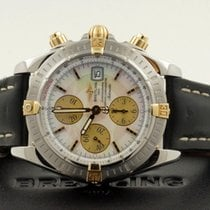 Breitling Chronomat Evolution Gold Steel Pearl Dial 44 mm...