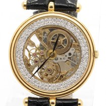 Van Cleef & Arpels Ultra Thin Solid 18k Yg Skeleton Case...
