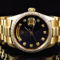 Rolex 18k Yellow Gold Mens 36 MM Rolex President Day-Date...