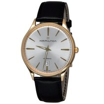 Hamilton Jazzmaster 18K Rose Gold Mens Leather Strap Watch...