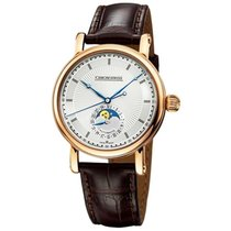 Chronoswiss CH-8521R Moon Phase 40mm in Rose Gold - on Brown...