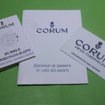 Corum vintage warranty card booklet and papers for bubble chrono