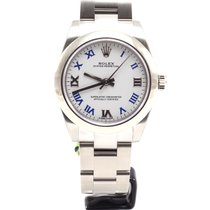 Rolex Oyster Perpetual Ladies 31mm white blue roman