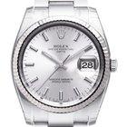 Rolex Date silver index