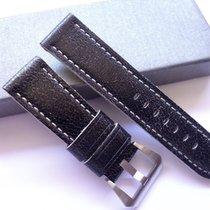Bodhy Strap 24/22mm Vintage Black leather band - 24mm Strap...