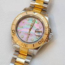 Rolex Yacht-Master Black Mother of Pearl Steel And Gold Watch