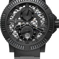 Ulysse Nardin DIVER BLACK SEA Steel Dial Black Rubber Black Strap