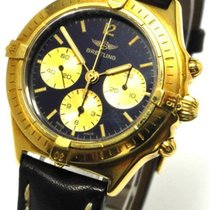 Breitling Callisto Handaufzug Chronograph 18 Kt Gold Ref 80520