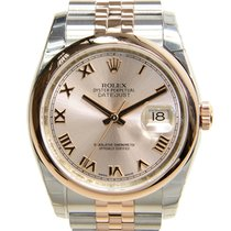 Rolex Datejust 18k Rose Gold And Steel Pink Automatic 116201PK...