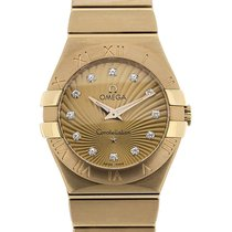 Omega Constellation 27 Quartz Gold