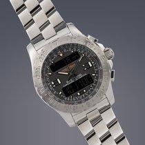 Breitling Airwolf steel quartz multifunction watch