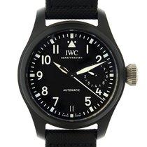 IWC Big Pilot Top Gun Black Dial Ceramics Black Automatic...