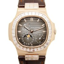 Patek Philippe Nautilus 18 K Rose Gold With Diamonds Black...