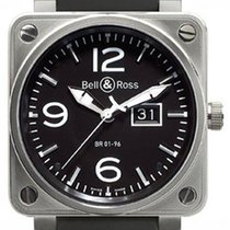 Bell & Ross BR01-96-GD Grande Date Steel 46mm Black Dial...