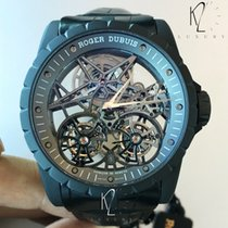 로저드뷔 (Roger Dubuis) Excalibur Skeleton Double Flying Tourbillo...
