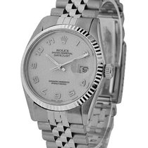 Rolex Used 16234_white_arabic_used Datejust Mens 36mm with...