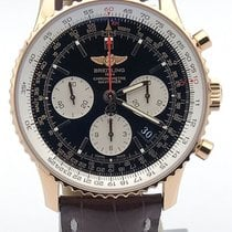 Breitling 18k Rose Gold Navitimer 01 Rb0120 On Brown Alligator...