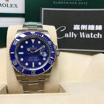 Rolex Cally - 116619LB Submariner Full White Gold Blue dial