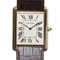 Cartier Tank 18k Rose Gold Silvery White Automatic W1560017