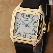 Cartier 18K Gold Panthere Unisex 28mm 1990s Luxury Swiss Made...