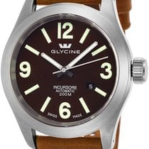 Glycine Incursore Automatic Steel Mens Strap Swiss Watch...