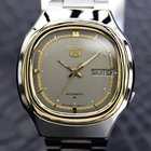 Seiko 5 Automatic 1970s Gold Plated Stainless Mens Watch Made...
