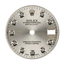 Rolex DateJust 26mm Steel/ Diamond Hour Markers Custom Dial