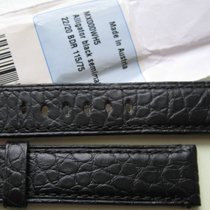 Panerai Watch 22mm Strap Band Black Alligator Leather 22/20 mm...