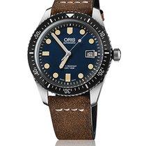 Oris Divers Sixty Five mit Leder-Armband in braun