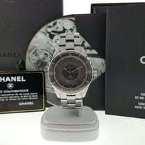 Chanel J12 Automatic Watch H2979 Grey Ceramic & Titanium...