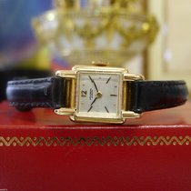 Universal Genève 18k Rose Gold Manual Wind Watch On Leather Strap