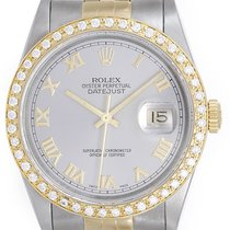 Rolex Datejust Men's 2-Tone Watch Steel/Gold 16233 Gray...