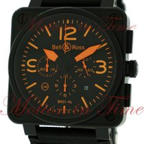 "Bell & Ross BR01-94 ""Orange"", Chronograph, Black..."