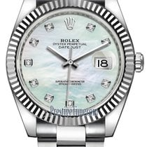 Rolex Datejust 41mm Stainless Steel 126334 MOP Diamond Oyster