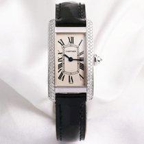 Cartier Lady Tank Americaine 1713 Diamond 18k White Gold