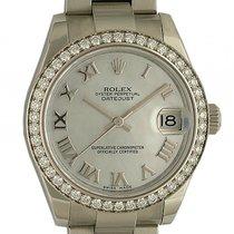 Rolex Datejust Medium Stahl Weißgold Diamond Perlmutt Automati...