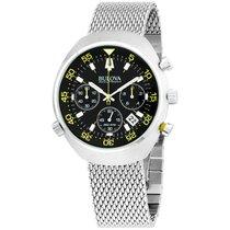 Bulova Accutron Ii Black Dial Stainless Steel Men's Watch...
