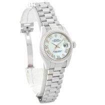 Rolex President Datejust Ladies 18k White Gold Watch 179179...