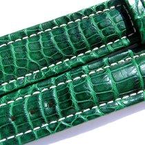 Breitling Band 20mm Croco Green Verde Grün Strap Ib012