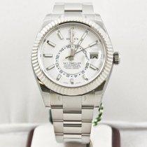 Rolex Sky-Dweller 326934 White Gold Fluted Bezel Box &...