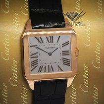 Cartier Santos Dumont 18k Rose Gold Manual Gray Dial Winding...