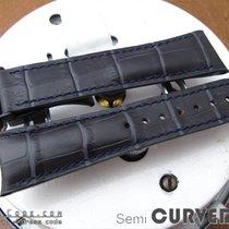Strapcode Dark Grey CrocoCalf Semi-Curved Lug Watch Band, PVD...