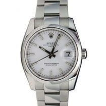 Rolex Oyster Perpetual 115200-WHTSDO 34mm White Index Domed...