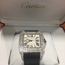 Cartier Santos 100 XL full diamond set
