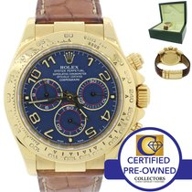 Rolex Daytona Cosmograph Blue 18K Yellow Gold Chronograph Watch