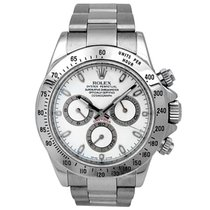 Rolex Pre-owned 40mm Rolex Stainless Steel Daytona. White Dial.