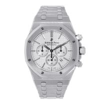 Audemars Piguet AP Royal Oak Chronograph 41mm Steel White Dial...