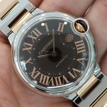 Cartier Ballon Bleu 18k Rose Gold Stainless Steel 42mm Large...