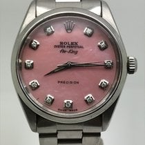 Rolex AIRKING 34MM AUTOMATIC PINK MOP DIAMONDS DIAL