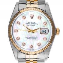Rolex Datejust Custom Stahl Gelbgold Diamond Perlmutt Automati...